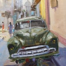 """American Legacy Fine Arts presents """"Up on Blocks in Havana"""" a painting by Scott W. Prior."""