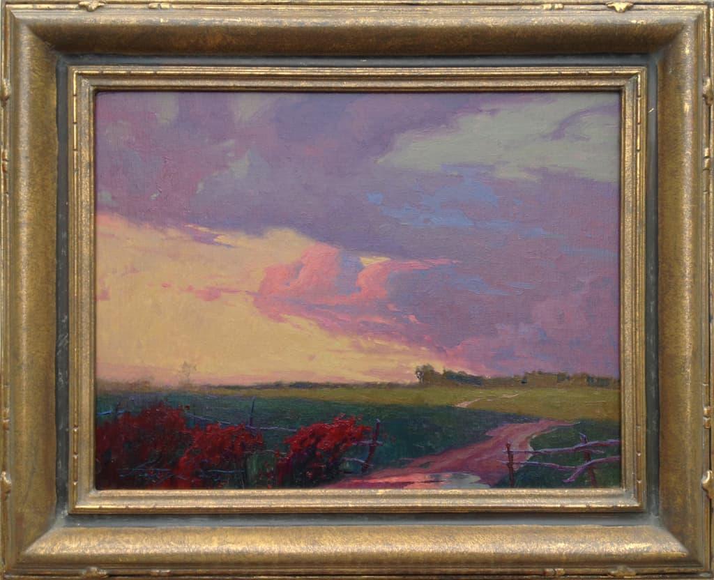 """American Legacy Fine Arts presents """"After the Rain; Carson, California"""" a painting by Alexey Steele."""