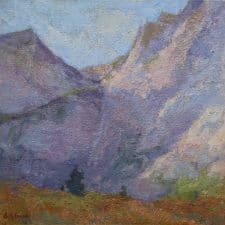"""American Legacy Fine Arts presents """"On High Places; Eastern Sierra's"""" a painting by Amy Sidrane."""