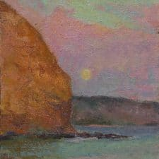 """American Legacy Fine Arts presents """"Present Balance and Harmony, Portuguese Point, Rancho Palos Verdes"""" a painting by Amy Sidrane."""
