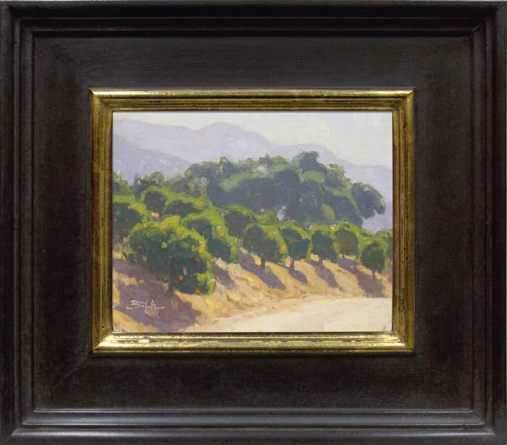 """American Legacy Fine Arts presents, """"Hillside Orchard"""" a painting by Dan Shultz."""