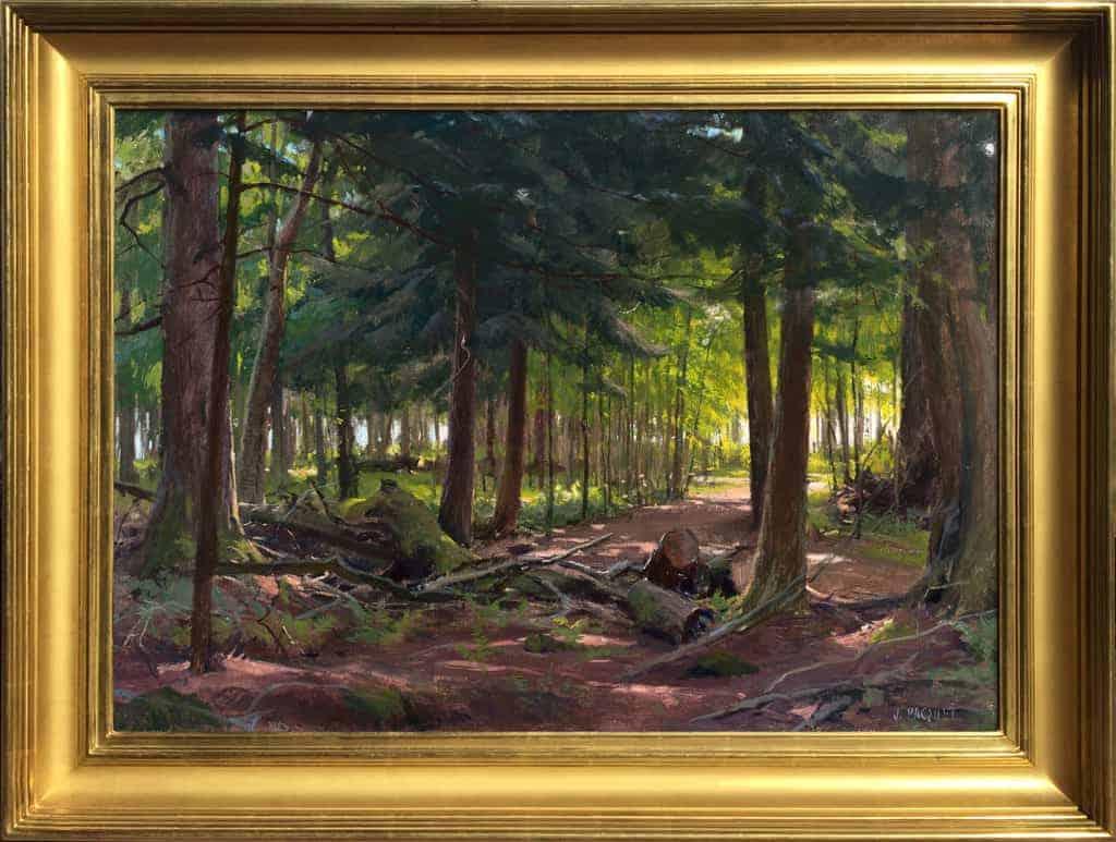 "American Legacy Fine Arts presents ""Ojibwe Sunrise"" a painting by Joseph Paquet."