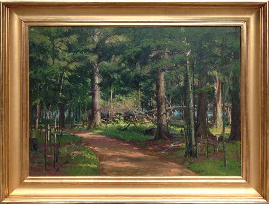 "American Legacy Fine Arts presents ""Splintered Hemlock"" a painting by Joseph Paquet."