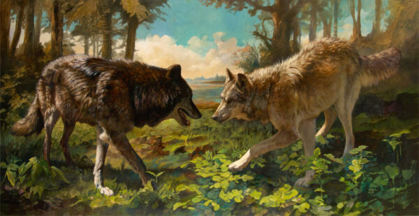 """American Legacy Fine Arts presents """"Boundary Waters"""" a painting by Julie Bell."""