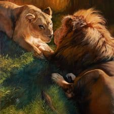 """American Legacy Fine Arts presents """"You and Me"""" a painting by Julie Bell."""