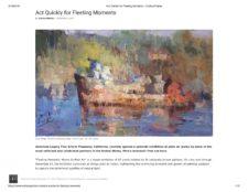 American Legacy Fine Arts presents Nikita Budkov in Plein Air Today Online Magazine, November 2017.