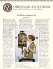 California Art Club Newsletter, Cover story, Winter 2013