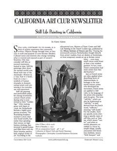 California Art Club Newsletter - February/March 2004