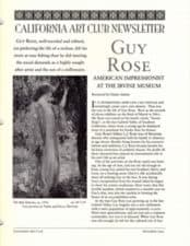 Guy Rose California Art Club Newsletter, Elaine Adams December 1995