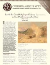 How the San Gabriel Valley Inspired California, California Art Club Newsletter
