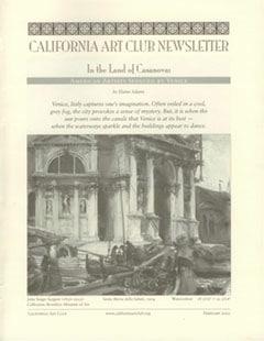 In the Land of Casanova by Elaine Adams, California Art Club Newsletter