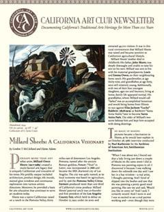 Millard Sheets by Gordon T McClelland, Elaine Adams, California Art Club Newsletter
