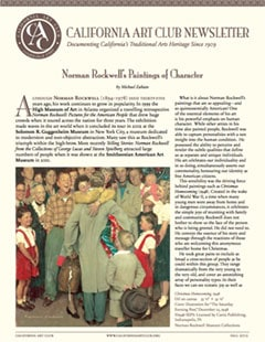 California Art Club Newsletter - Norman Rockwell 1894-1978 - Norman Rockwells Paintings of Character by Michael Zakian
