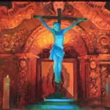 "American Legacy Fine Arts presents ""Crucifix and Retablo at Serra Ch"