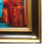 "American Legacy Fine Arts presents ""Crucifix and Retablo at Serra Chapel Mission San Juan Capistrano"" a painting by Peter Adams."