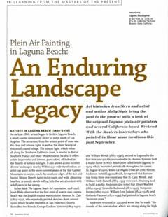 Plein Air Painting-in Laguna Beach, America Artist Magazine