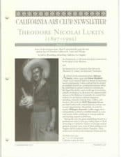 Theodore N Lukits Part-II , California Art Club Newsletter
