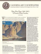 California Art Club Newsletter Edgar Allen Payne by Elaine Adams