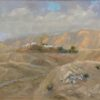 "American Legacy Fine Arts presents ""Nabi Musa (Prophet Moses) at Ramadan; Judean Desert"" a painting by Peter Adams."