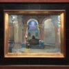 """American Legacy Fine Arts presents """"Statue of the Sleeping Virgin; Interior of the Church of the Dormition"""" a painting by Peter Adams."""