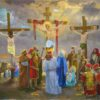 """American Legacy Fine Arts presents """"Study for the 12th Station; The Crucifixion Scene"""" a painting by Peter Adams."""