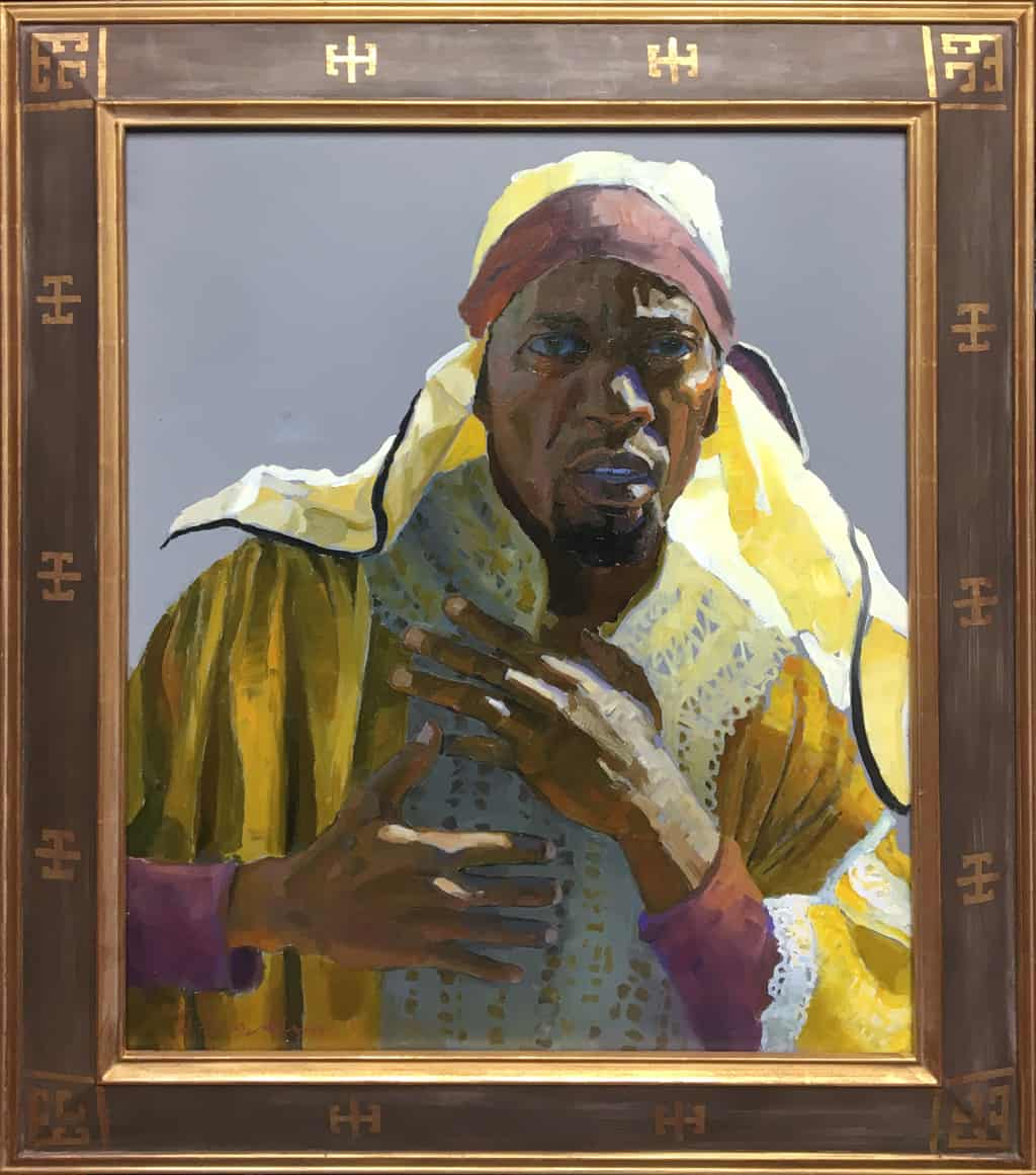 """American Legacy Fine Arts presents """"Study for the 5th Station of the Cross"""" a painting by Peter Adams."""