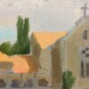 """American Legacy Fine Arts presents """"Trappist Monastery in Latrun; Overlooking the Road to Jerusalem"""" a painting by Peter Adams."""