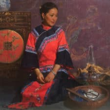 """American Legacy Fine Arts presents """"The Heiress's Closet"""" a painting by Mian Situ."""