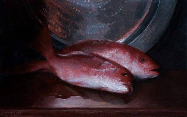 """American Legacy Fine Arts presents 'Red Snapper"""" a painting by Adrian Gottlieb."""