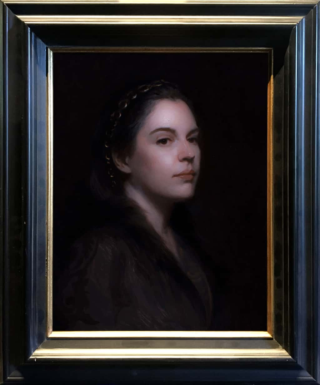 """American Legacy Fine Arts presents """"Découvert"""" a painting by Adrian Gottlieb."""