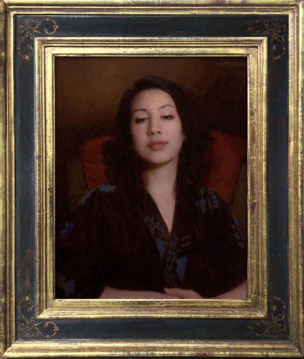 """American Legacy Fine Arts presents """"Satis"""" a painting by Adrian Gottlieb."""