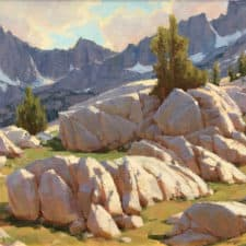 """American Legacy Fine Arts presents """"White Granite County"""" a painting by Jean LeGassick."""