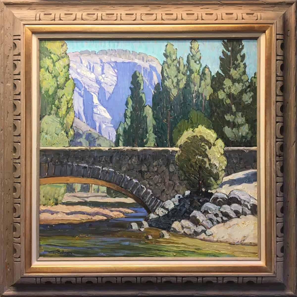 "American Legacy Fine Arts presents ""Stonebridge, Yosemite"" a painting by Tim Solliday."