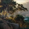 """American Legacy Fine Arts presents """"Hanging Cypress"""" a painting by Brian Blood."""