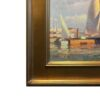 """American Legacy Fine Arts presents """"Newport Harbor Scene"""" a painting by Calvin Liang."""