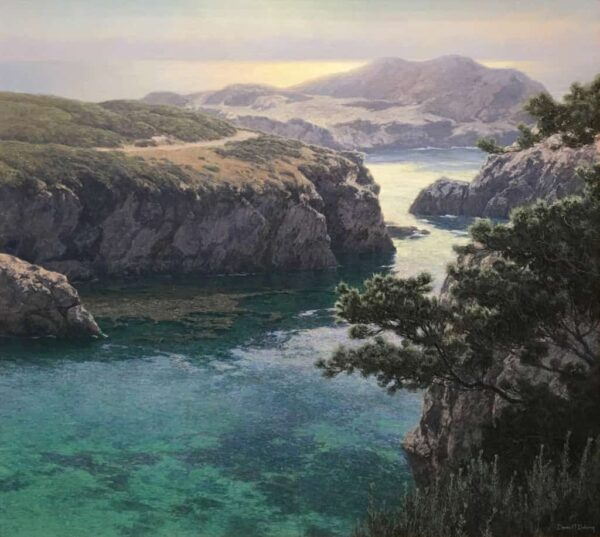 """American Legacy Fine Arts presents """"Into the Mist"""" a painting by Dennis Doheny."""
