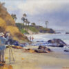 """American Legacy Fine Arts presents """"Bob Francis Paints Diver's Cove"""" a painting by Jim McVicker."""