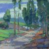 """American Legacy Fine Arts presents """"Pine Tree Road"""" a painting by Karl Dempwolf."""