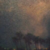 """American Legacy Fine Arts presents """"Aerial Celebration in Blue"""" a painting by Jennifer Moses."""