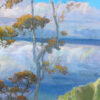 """American Legacy Fine Arts presents """"Parting Mist ; Kalalau Lookout, Kauai"""" a painting by Peter Adams."""