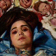 "American Legacy Fine Arts presents ""Blue Silk"" a painting by Teresa Oaxaca."