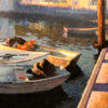 """American Legacy Fine Arts presents """"Reflection; Sausalito, California"""" a painting by Calvin Liang."""