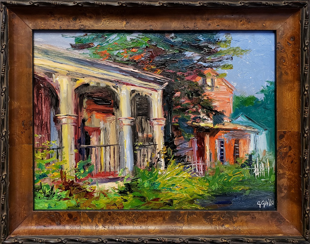 """American Legacy Fine Arts presents """"Pennsylvania Storefronts"""" a painting by George Gallo."""