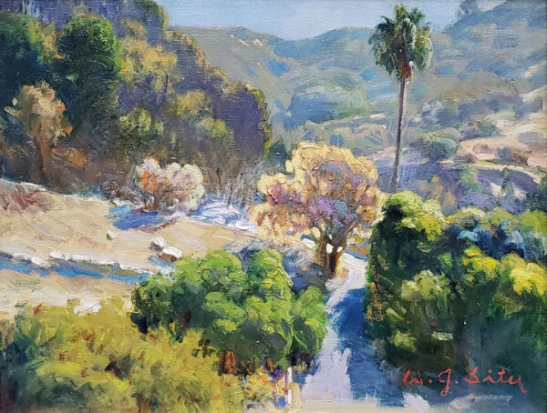 """American Legacy Fine Arts presents """"Beside the Canyon Road"""" a painting by Jason Situ."""