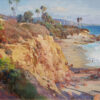 """American Legacy Fine Arts presents """"Late Afternoon Light; Laguna Beach, CA"""" a painting by Jason Situ."""