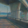 """American Legacy Fine Arts presents """"Night Bridge"""" a painting by Tony Peters."""