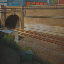 """American Legacy Fine Arts presents """"Tunnel"""" a painting by Tony Peters."""