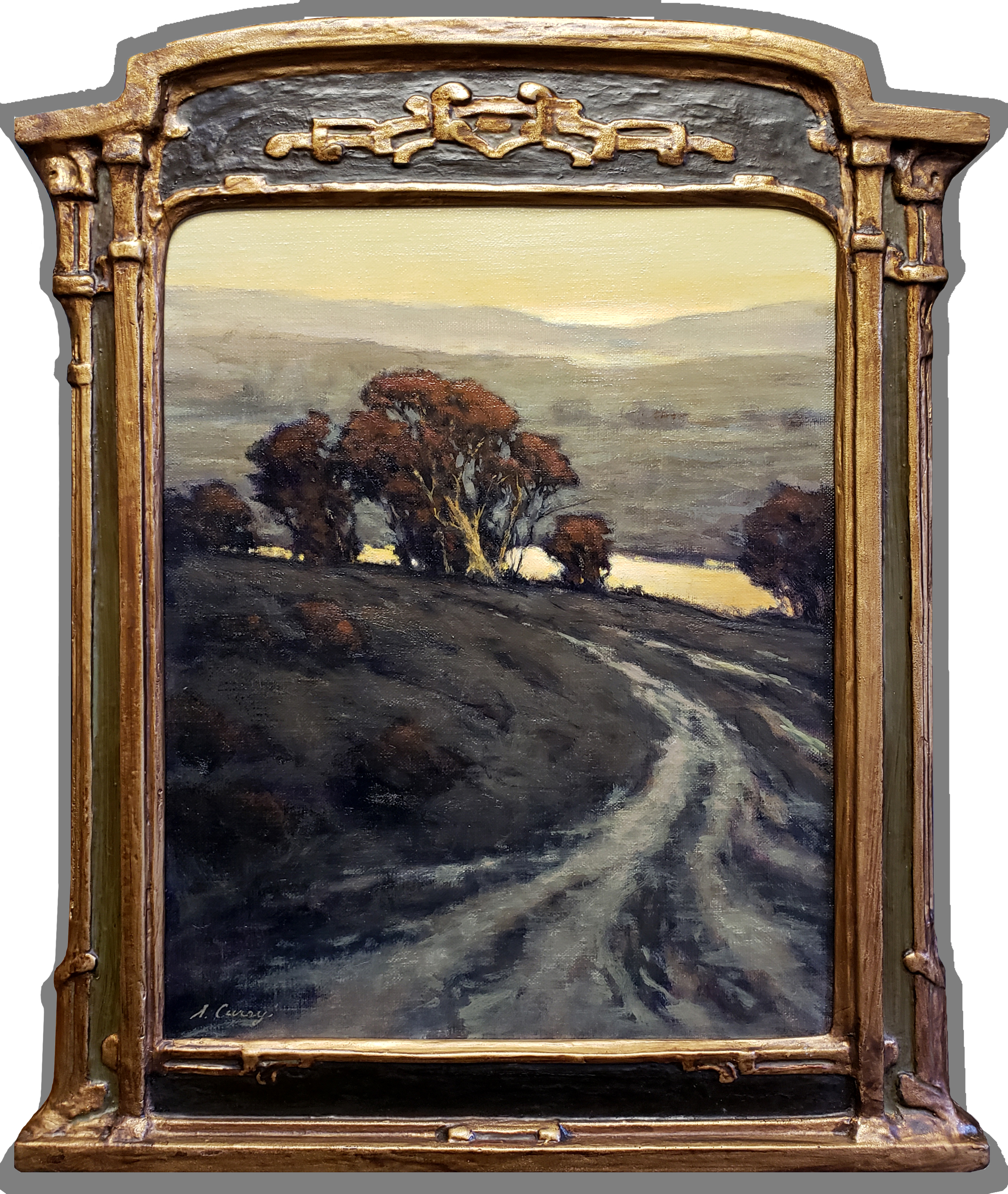 """American Legacy Fine Arts presents """"The Divide; Petaluma, Sonoma County"""" a painting by Steve Curry."""