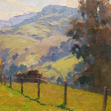 """American Legacy Fine Arts presents """" Early Spring"""" a painting by Michael Obermeyer."""
