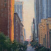 """American Legacy Fine Arts presents """"Flower Street Canyon; Los Angeles"""" by Michael Obermeyer."""